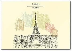 París, Francia, Europa. Torre Eiffel. Imán para nevera con dibujo ...