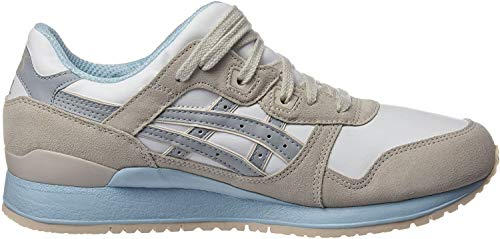 Asics GEL-Lyte III, Baskets Basses Femme, Blanc (White/Light Grey), 37 EU