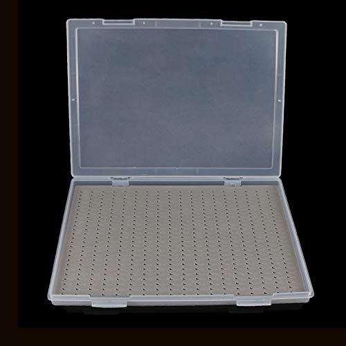 Aventik Super Large Capacity Clear Lid Plastic Fishing Box Slim Foam Fly Box Competition Fishing Hook Tackle Box(H24LB)