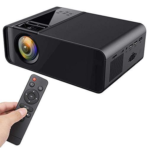 Mini caja proyector, mini proyector, proyector cine casa portátil Full HD 1080P compatible dispositivos HDMI, USB, VGA, AV, TF Proyector video multimedia TV, PC, teléfono inteligente, PS4, computador