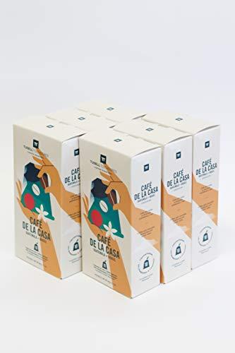 Capsulas Compatibles Nespresso ® | 100% Biodegradable y Compostable | Pack 6 (6x10) | 60 Capsulas | Tusell Tostadores (Cafe de la Casa)