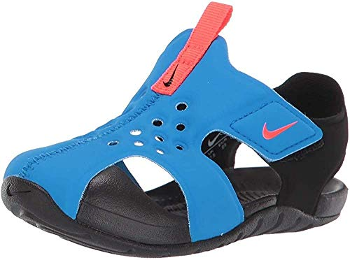 Nike Sunray Protect 2 (TD), Zapatos de Playa y Piscina Niño, Multicolor (Photo Blue/Bright Crimson/Black 400), 25 EU