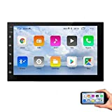 EINCAR Android 10.0 Head unit Double Din Car Stereo 7 inch Touch Screen Car Radio Bluetooth Hands-Free Calling FM Radio Receiver,Support Mirror Link for Smart Phone,GPS Navigation,SWC,WiFi/4G