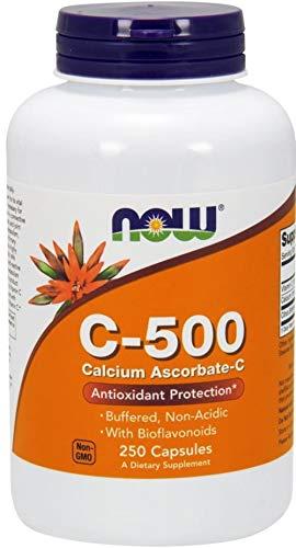 Now Foods La vitamina C-500 Ascorbato de calcio-C - 250 caps 250 Unidades 260 g