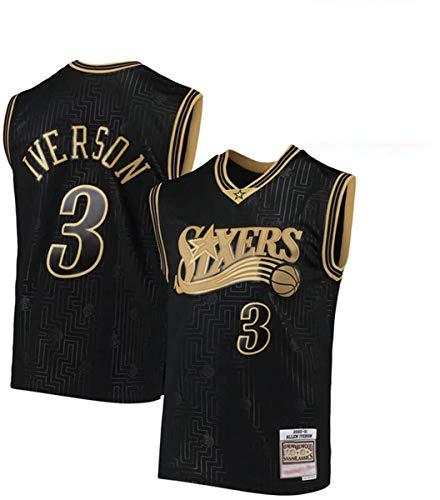 HZHEN Men's NBA Jersey-Allen Iverson 3# New Orleans Pelicans Ropa de Baloncesto, Vintage Cool All-Star All-Star Unisex Uniforme,C,XL(180~185cm/85~95kg)