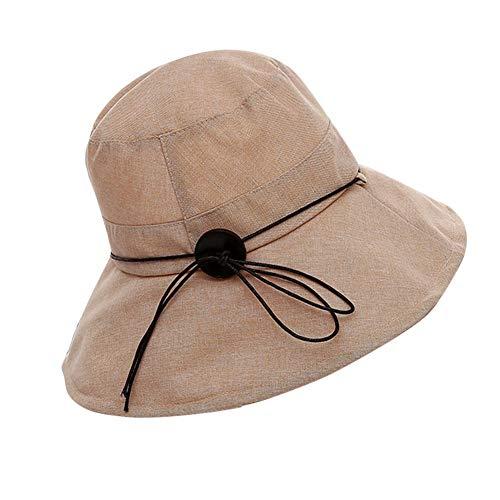 Sombrero del Balde Color Mujeres Las Sólido De Anti Mode De Marca...