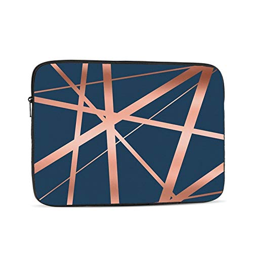Navy And Copper Luxe 13 Inch Laptop Sleeve Bag Compatible with 13.3' Old MacBook Air (A1466 A1369) Notebook Computer Protective Case Cover