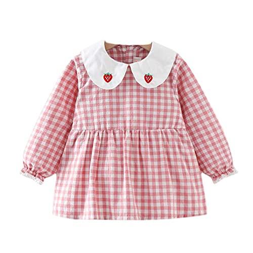 Delantal para comer de bebé con rejilla rosa, baberos impermeables interiores para bebés, delantal de pintura de manga larga para niñas