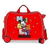 Disney Mickey´S Party Maleta Infantil Rojo 50x38x20 cms Rígida ABS Cierre de combinación Lateral 34L 3 kgs 4 Ruedas...