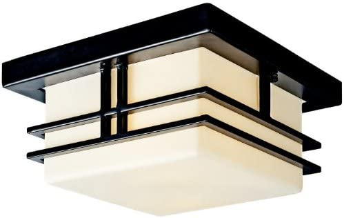 "wholesale Kichler sale 49206BK, Tremillo Aluminum Outdoor Ceiling outlet online sale Lighting, 120 Total Watts, Black (Painted),H 6 1/2"" x W 11 1/2"" sale"