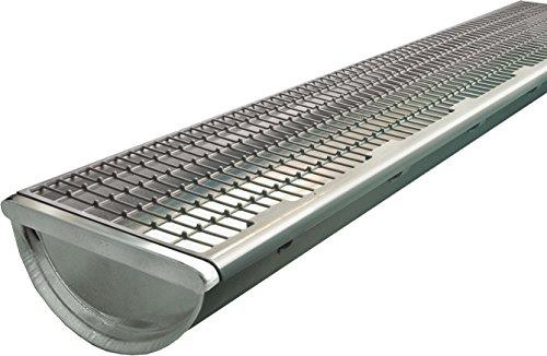 pequeño y compacto Tecnología de cubiertas y techos SAREI SHDTDarifix – Cubiertas para canalones (PVC, 1 m, 5 uds.), Gris
