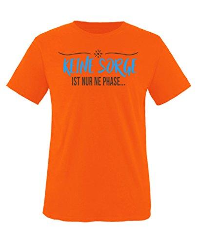 Comedy Shirts - Keine Sorge, ist nur ne Phase - Jungen T-Shirt - Orange/Blau-Braun Gr. 122/128