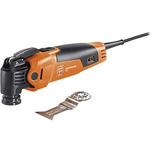 Fein MULTIMASTER MM 500 Plus (Multitool mit 5 m Kabel, 350 W, Multifunktionswerkzeug für Holz, Metall, Schleifen usw., inkl. Sägeblatt mit Kunststoffkoffer) 72296762000