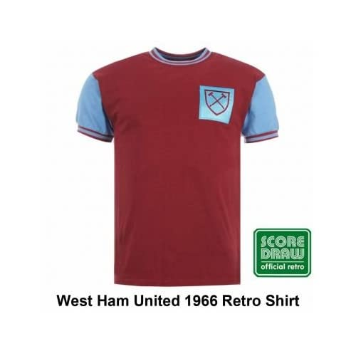deff03975d Amazon.com : West Ham United 1966 Retro Shirt : Sports & Outdoors