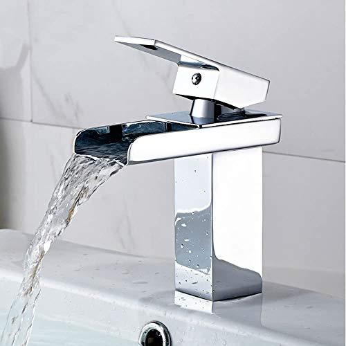 Grifo Grifo del grifo; grifo; BIBCOCK Wide Spout Faucet, artículos sanitarios, mezclador de lavamanos de cocina, grifo de tocador de baño frío y caliente, instalación de cubierta Cascada, grifo de bañ