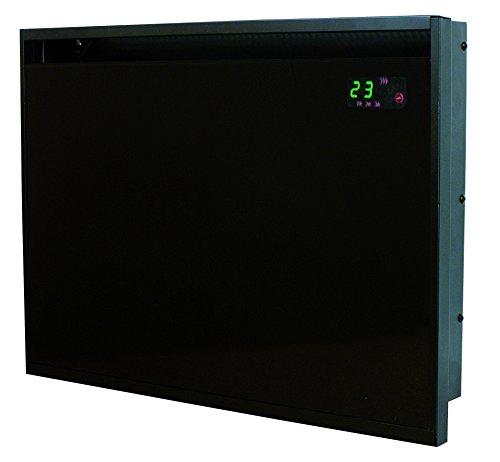 DREXON 839150 - Convecteur rayonnant - Façade en verre - 1500 W - Noir