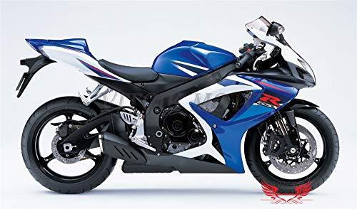 VITCIK Autocollants pour carénages de motos de course GSX-R750 GSX-R600 K6 2006 2007 GSXR 600 750 K6 06 07 (Bleu)