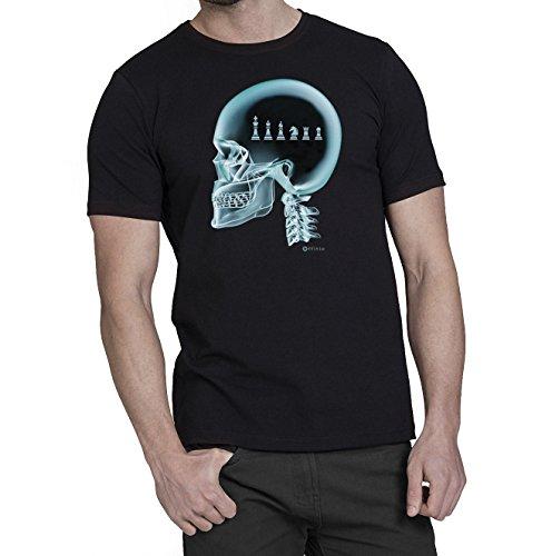 Chess ajedrez en el cerebro X-Ray Camiseta para hombre T-Shirt
