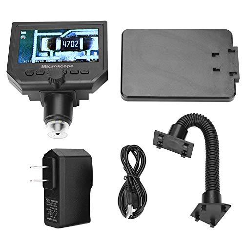 3.6MP CCD Digital Microscope kit, 100-240V Portable 4.3' G600 1-600X Magnifier 1080P HD LCD Digital Microscope Set with Power Adapter(100-240V US Plug)