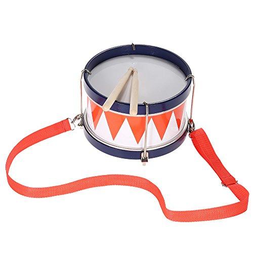 Ammoon® Bunte Kindertrommel, musikalisches Spielzeug, Schlaginstrument mit Schlagstöcken und Trommelgurt