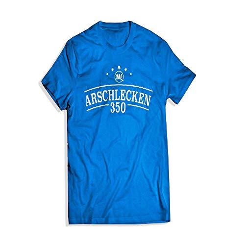 T-Shirt Original Arschlecken 350 Markus Langer, Baumwolle, Royalblau, M-L-XL (L)