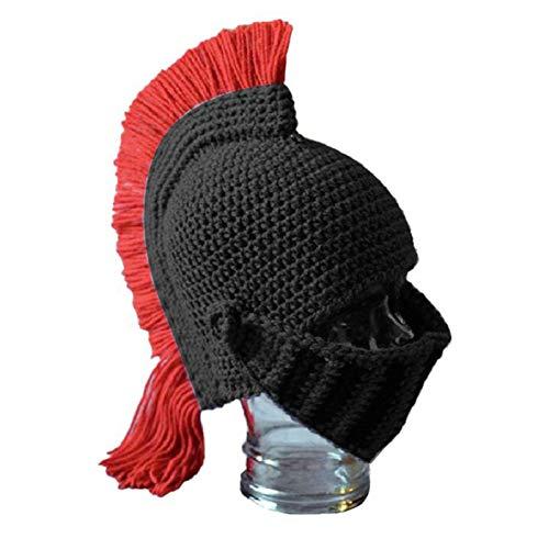 YWZQ Brave Knight Strickmütze Spartan Helm Knight Häkelmütze Strickmütze Ski...
