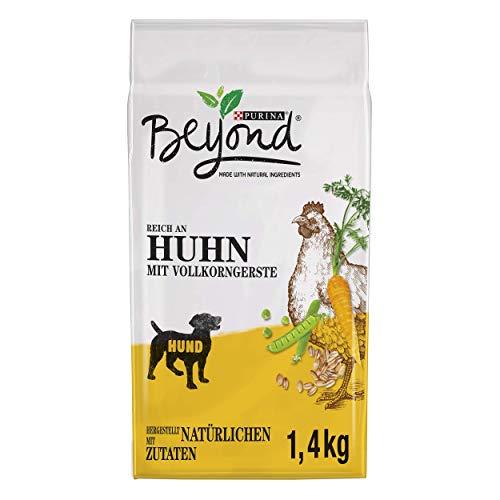 PURINA BEYOND Premium-Hundetrockenfutter weizenfrei, mit Huhn und Vollkorngerste, 6er Pack (6 x 1,4 kg)