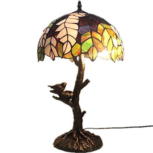 Yilingqi-1 12 inch Europese Tiffany kleur glas tafel lamp woonblad schijnwerper antiek bureau bed slaapkamerlamp