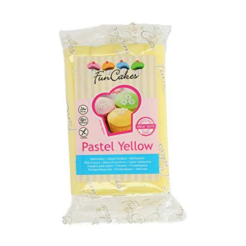 FunCakes Pasta di Zucchero Giallo Pastello - 250 gr