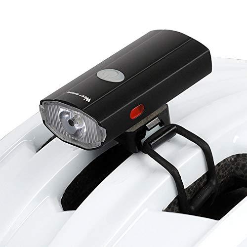 Zeroall Fahrradhelm Licht Helmlampe 2 in 1 USB Wiederaufladbare Fahrrad Helm Frontlicht & Rücklicht mit Seitenlichtern, wasserdichte LED-Fahrradleuchten für die Sicherheit beim Radfahren(Schwarz)