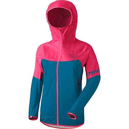 DYNAFIT W Transalper Light 3L Jacket Colorblock-Blau-Pink, Damen Regenjacke, Größe 36 - Farbe Lipstick