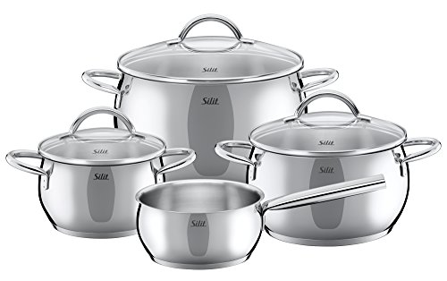 WMF 7 Piece Nobile Cookware Set, Silver