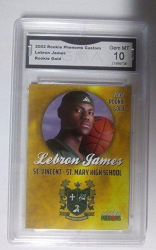LeBron James 2002 FIRST ROOKIE GMA GRADED GEM MINT 10