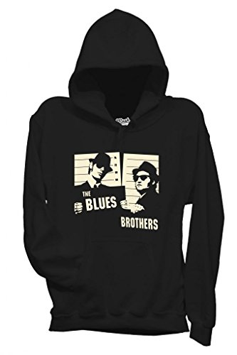 MUSH Sweatshirt The Blues Brothers - Film by Dress Your Style - Homme-L-Noir