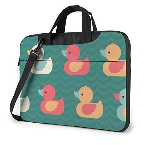 Los Patos de Goma Imprimieron el Bolso de Hombro del Ordenador portátil, maletín del Bolso de Mensajero del Negocio del Bolso de la Caja del Ordenador portátil