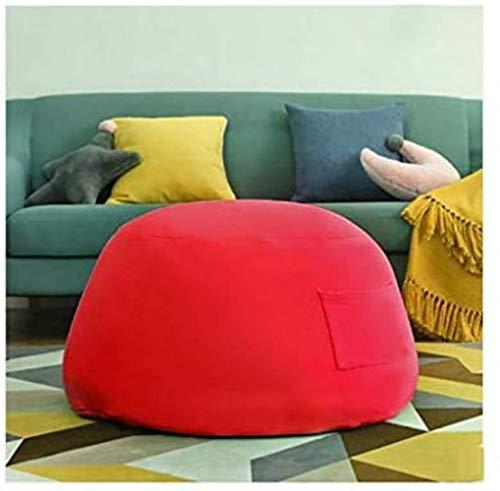 Canapé lit LHY- Lazy Sofa Couch Cotton Bean Bag Living Room Petit Bean Bag Sofa Petit Appartement Chambre Mignon Fille Tatami Balcon Bean Bag Chair Doux (Color : Red)
