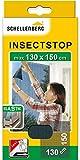 Schellenberg 51009 Mosquitera de protección elástico para ventanas, lavable, Montaje rápido y sencillo desde el interior, sin taladros, Incluye banda de fijación, Antracita, max. 130 x 150 cm