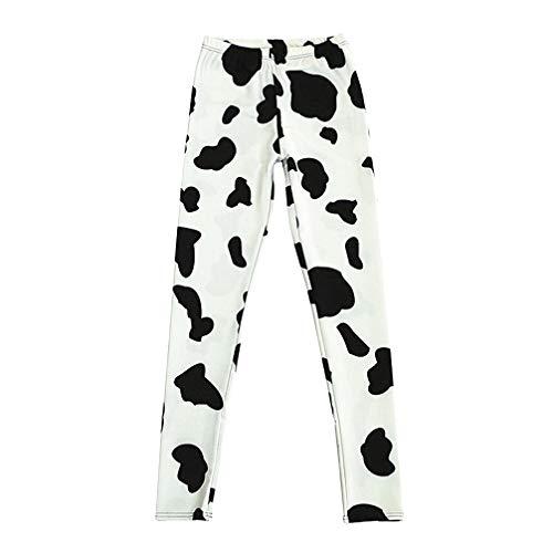3D Gedruckt Fitness Push Up Workout Leggings Frauen Gothic Schwarz Weiß Kuh Plus Größe Hohe Taille Punk Rock Hosen S