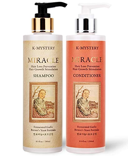 K-Mystery Miracle Garlic & Brewer's Yeast against Hair Loss Shampoo & Conditioner Set 8.5oz/250ml Dual Pack