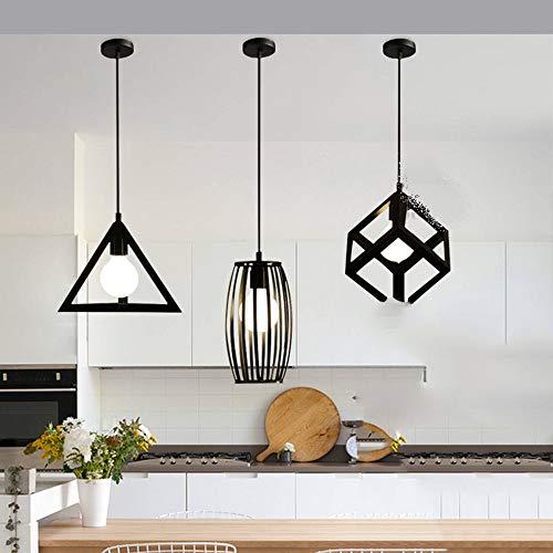 Binnen Amerikaanse landelijke retro-industrie smeedijzeren materiaal drie recht restaurant kroonluchter grootte 50 cm * 100 cm kroonluchter verlichting plafondlamp slaapkamer studie woonkamer