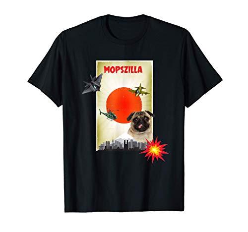 Mopszilla, lustiger Mops, Japan, Tokio, Hund, Mops T-Shirt