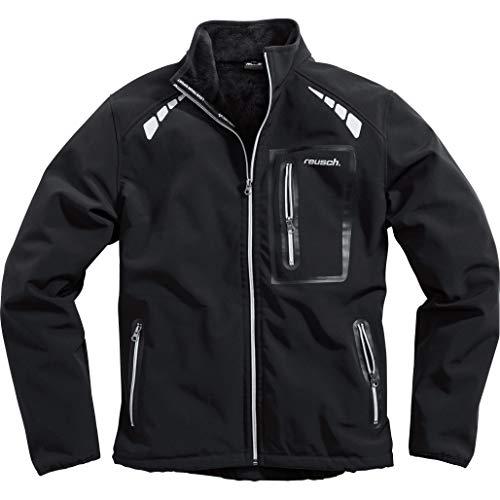 Reusch Softshelljacke Softshelljacke 1.0, Zwei seitliche Einschubtaschen, eine Brusttasche, reflektierende Drucke auf Front und Rücken, optimierte Passform, Schwarz, XXXL / 3XL
