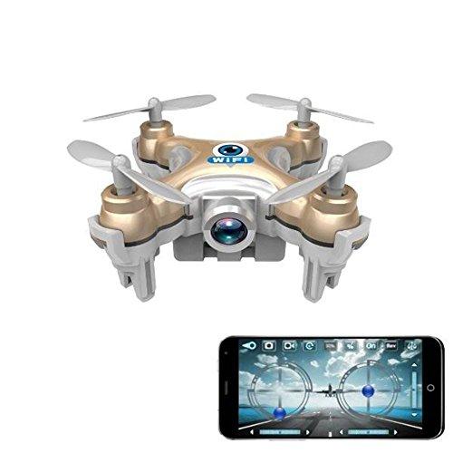kingtoys Cheerson CX-10W Micro Drone 4CH 6 Axis Gyro RC Quadcopter LED iOS / Android App Wifi RC FPV con macchina fotografica 0.3MP Mini Quadcopter