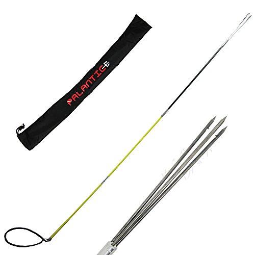 Scuba Choice Hybrid Hawaiian Sling Travel Spearfishing Pole Spear with 3 Prong Tip (3-Piece), 7-Foot