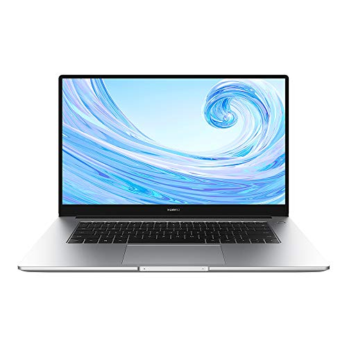 HUAWEI MateBook D 15.6' Laptop, Processore AMD Ryzen 5 3500U, 8 GB RAM, 256 GB SSD, Schermo FullView 1080P FHD, Collaborazione multi-schermo, Sensore impronte digitali, Windows 10 Home, Argento