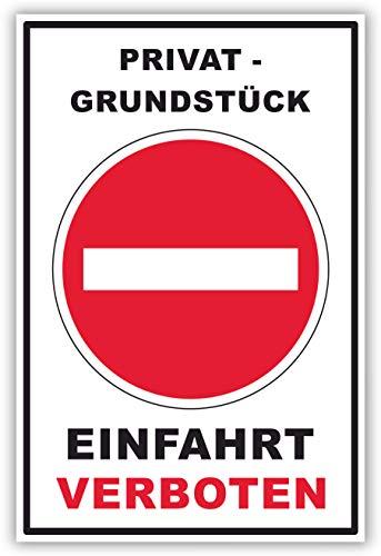 SCHILDER HIMMEL anpassbares Einfahrt verboten Schild DIN A4 29x21cm Kunststoff mit Schrauben, Nr 131 eigener Text/Bild verschiedene Größen/Materialien
