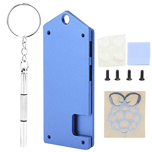 For Raspberry Pi Shell,Aluminum Alloy Case for Raspberry Pi zero w Ultra‑Thin Dust‑Proof Protective Shell,For Raspberry Pi Zero w Protective Case for DIY Enthusiasts(Blue)