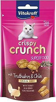 Vitakraft Crispy Crunch Dinde et Graines de Chia - Lot de 8 Paquets