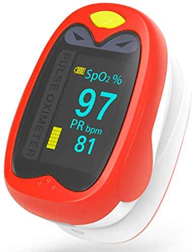 KILLM Oxímetro de Pulso, Neonatal para los niños la frecuencia del Pulso y la saturación de oxígeno Medida con Pantalla giratoria automática Digital OLED con diseño Lindo de la Historieta