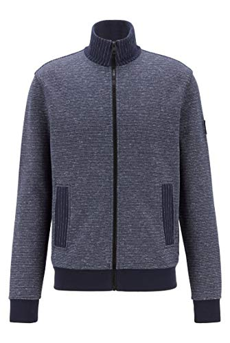 BOSS Herren Zeastripe Regular-Fit Jersey-Jacke mit Streifen